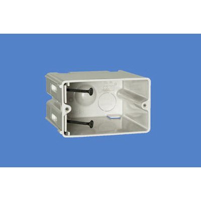Allied Moulded SB-1H SliderBox® Adjustable 1-Gang Switch/Receptacle Outlet Box; 3-9/16 Inch Depth, Thermoplastic, 23 Cubic-Inch, Beige/Tan