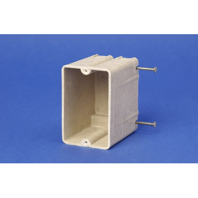 Allied Moulded 9327-N 1-Gang Switch/Receptacle Outlet Box; 3-1/4 Inch Depth, Thermoset-Fiberglass Reinforced Polyester, 20.5 Cubic-Inch, Beige/Tan