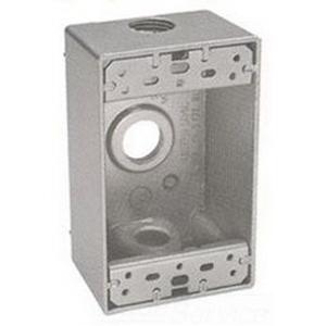 BWF/Teddico B-5WV 1-Gang Weatherproof Outlet Box; 2 Inch Depth, Die-Cast, 18.3 Cubic-Inch, White