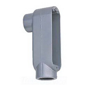 BWF/Teddico 606-CG Type LB Conduit Body Assembly With Cover and Gasket; 2-1/2 Inch, Threaded, Die-Cast Aluminum, Gray