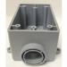 Cantex 5133364 1-Gang FSE Exposed Switch/Outlet Box; 2-3/8 Inch Depth, Rigid PVC, Gray, 3/4 Inch Hub