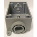 Cantex 5133464 1-Gang FSC Exposed Switch/Outlet Box; 2-3/8 Inch Depth, Rigid PVC, Gray, 3/4 Inch Hub