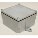 Cantex 5133712 Fabricated Junction Box; 8.624 Inch Depth, Rigid PVC, Gray, Surface Mount, Screwed Cover, 8 Inch x 8 Inch x 4 Inch Hub