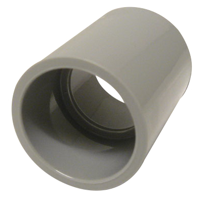 Cantex 6141623 SCH 40 Coupling With Center Stop; 1/2 Inch, Female, 1-1/2 Inch Length, Rigid PVC