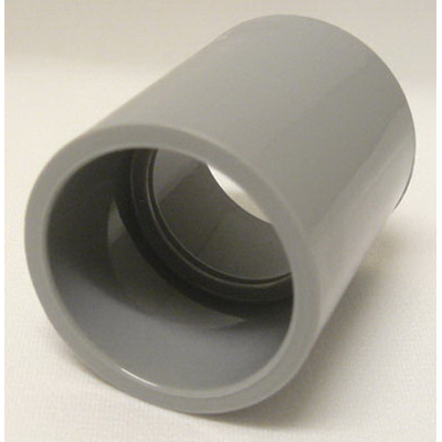 Cantex 6141632 SCH 40 Coupling With Center Stop; 4 Inch, Female, 4-3/16 Inch Length, Rigid PVC