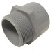Cantex 5140103 SCH 40/80 Terminal Adapter; 1/2 Inch, Male, Rigid PVC