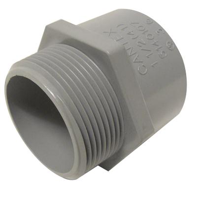 Cantex 5140104 SCH 40/80 Terminal Adapter; 3/4-14, MNPT, Rigid PVC