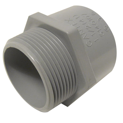 Cantex 5140105 SCH 40/80 Terminal Adapter; 1 Inch, Male, Rigid PVC