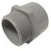 Cantex 5140106 SCH 40/80 Terminal Adapter; 1-1/4-11.5, MNPT, Rigid PVC