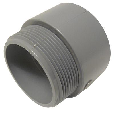Cantex 5140109 SCH 40/80 Terminal Adapter; 2-1/2 Inch, Male, Rigid PVC