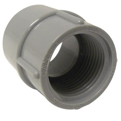 Cantex 5140049 SCH 40/80 Adapter; 2-1/2-8, FNPT, Rigid PVC