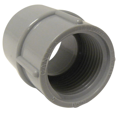 Cantex 5140050 SCH 40/80 Adapter; 3-8, FNPT, Rigid PVC