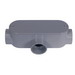Cantex 5133568 Type T Conduit Body With Removable Cover; 2 Inch, Rigid PVC, Gray