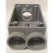 Cantex 5133544 1-Gang FSCC Exposed Switch/Outlet Box; 2-3/8 Inch Depth, Rigid PVC, Gray, 1/2 Inch Hub