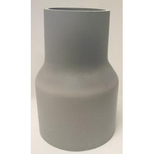 Cantex 5142104 SCH 40 Swedged Reducer; 3 Inch x 2 Inch, Belled x Spigot, 6.688 Inch Length, PVC