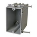 Cantex EZ18SN EZ-Box® 1-Gang Switch/Outlet Box; 2-7/8 Inch Depth, PVC, 18 Cubic-Inch, Gray