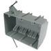 Cantex EZ44TN EZ-Box® 3-Gang Switch/Outlet Box; 2.750 Inch Depth, PVC, 44 Cubic-Inch, Gray