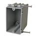 Cantex EZ23SN EZ-Box® 1-Gang Switch/Outlet Box; 3-1/2 Inch Depth, PVC, 23 Cubic-Inch, Gray