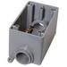 Cantex 5133310 1-Gang FDC Exposed Outlet Box; 2-15/16 Inch Depth, Rigid PVC, Gray, 1/2 Inch Hub