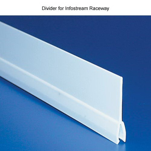 Hellermann Tyton MCRW-SD10 InfoStream Raceway Side Divider; PVC, White