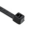 Hellermann Tyton T18L0M4 Heavy Duty Cable Tie; 0.600 - 2.170 Inch Bundle Dia, 8 Inch Length, 18 lb Tensile Strength, Polyamide, Black