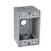TayMac SD350S 1-Gang Weatherproof Outlet Box; 2.629 Inch Depth, Die-Cast, Gray