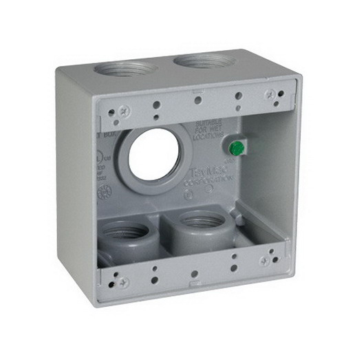 4 4 Weatherproof Electrical Box: TayMac Outlet Boxes UPC & Barcode