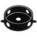 Mulberry 30316Z 4-Inch Round Weatherproof Box; 1-1/2 Inch Depth, Die-Cast Aluminum, 15.3 Cubic-Inch, Bronze