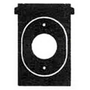 Mulberry 30525 Self-Closing Weatherproof Single Receptacle Cover With Lock Hasps; Standard Mount, Die-Cast Aluminum, Gray