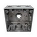 Mulberry 30269 2-Gang Square Weatherproof Box; 2 Inch Depth, 0.094 Inch Die-Cast Aluminum, 30.5 Cubic-Inch, Gray