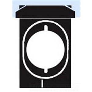 Mulberry 30534 Self-Closing Weatherproof Range/Dryer Receptacle Cover With Lock Hasps; Standard/Vertical Mount, Die-Cast Aluminum, Gray