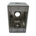 Mulberry 30584 Deep 1-Gang Weatherproof Box With Mounting Lugs; 2-5/8 Inch Depth, 0.094 Inch Die-Cast Aluminum, 24 Cubic-Inch, Gray