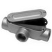 Mulberry 12841 Type T Conduit Body Kit; 1/2 Inch, Threaded, Die-Cast Aluminum