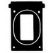 Mulberry 30538 Self-Closing Weatherproof GFCI Receptacle Cover With Lock Hasps; Screw/FS Box Mount, Die-Cast Aluminum