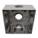 Mulberry 30254 2-Gang Square Weatherproof Box; 2 Inch Depth, 0.094 Inch Die-Cast Aluminum, 30.5 Cubic-Inch, Gray