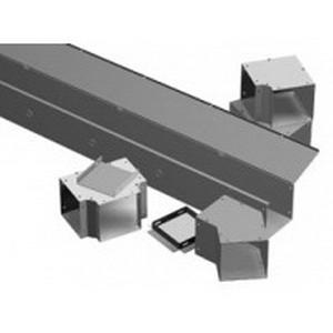 Hammond CWSC836NK Straight Section Wireway; 36 Inch x 8 Inch x 8 Inch, 14/16 Gauge Steel, ANSI 61 Gray