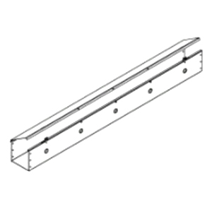 Hammond CWST496 Straight Section; 96 Inch x 4 Inch x 4 Inch, Steel, ANSI 61 Gray