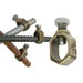 Galvan G5 Grounding Rod Clamp; 1/2-5/8 Inch Rod, 1/2 Inch Rebar, Bronze Alloy, Stainless Steel Bolt