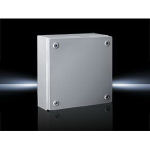 Rittal 1508510 KL Model Solid Single Door Terminal Box; 17 or 18 Gauge Sheet Steel, RAL 7035 Light Gray, Wall Mount, Screwed Cover