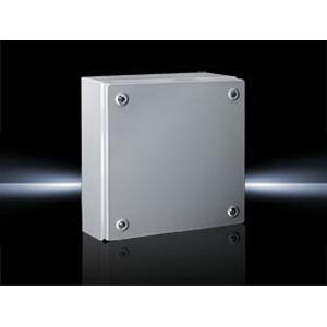 Rittal 1502510 KL Model Solid Single Door Terminal Box; 18 Gauge Sheet Steel, RAL 7035 Light Gray, Screwed Cover