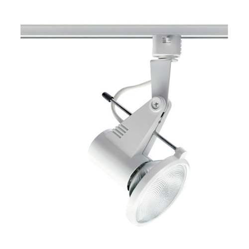 Juno Lighting T218WH Trac-Master Mini Hi-Tech Spotlight 75 Watt  Porcelain Medium Base  White