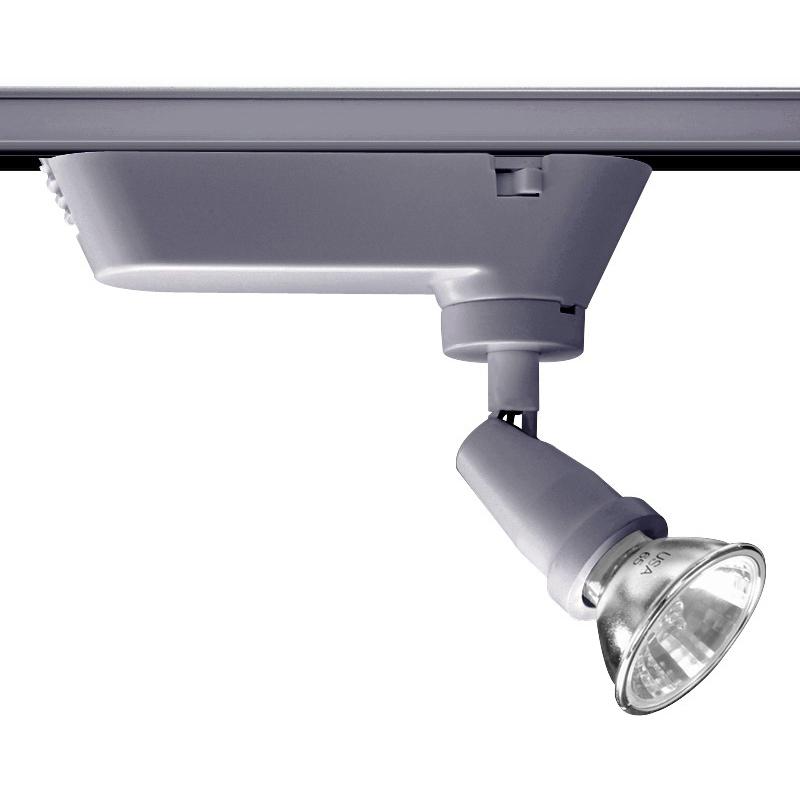 Juno Lighting T401SL Trac-Master® Universal Lamp Holder; 12 Volt, 20 - 50 Watt, Ceramic Bi-Pin Base, Silver
