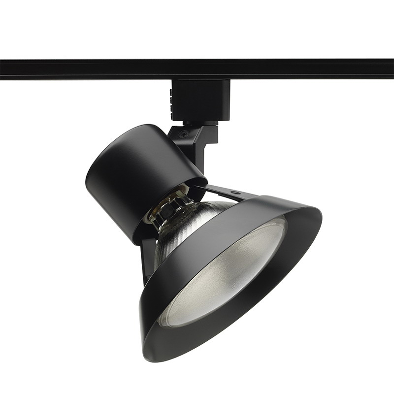 Juno Lighting R532BL Flared Gimbal Spotlight; 75 Watt, Porcelain Medium Base, Black