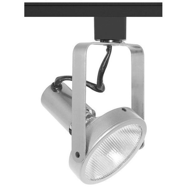 Juno Lighting T363SC Trac-Master Avant Garde Open Back Gimbal Ring Spotlight Fixture 120 Volt  75 Watt  Porcelain Medium Base  Satin Chrome