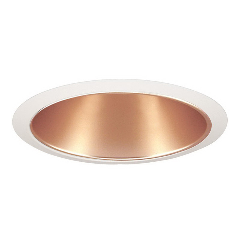 Juno Lighting 26WHZ-WH 6 Inch Downlight Straight Cone Trim; Wheat Haze Reflector, White Trim, Ceiling Mount, 7.625 Inch OD x 5.750 Inch Height