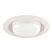 Juno Lighting 241-PW 6 Inch Drop Opal Lens With Reflector Trim; Plastic White, Ceiling Mount, 8 Inch OD
