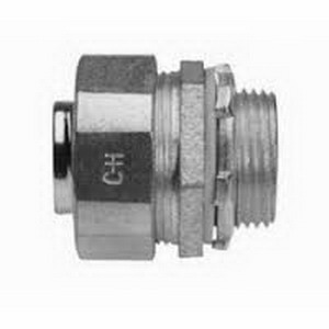 Cooper Crouse-Hinds LT250-US Liquidator Non-Insulated Liquidtight Straight Connector 2-1/2 Inch- Malleable Iron- Electro-Plated Zinc- Natural-