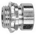 Cooper Crouse-Hinds 1650US EMT Compression Connector With Insulated Throat; 1/2 Inch MNPT, Steel, Electro-Plated Zinc