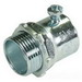 Cooper Crouse-Hinds 450SUS Straight Non-Insulated EMT Set-Screw Connector; 1/2 Inch, Steel, Electro-Plated Zinc
