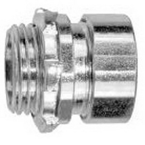Cooper Crouse-Hinds 1656US Insulated EMT Set-Screw Compression Connector; 2-1/2 Inch, Malleable Iron, Electro-Plated Zinc
